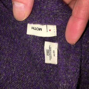 "Anthropologie Sweaters - Anthro Moth Purple ""Split Decision"" Cardigan XS"